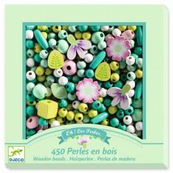 450 perles en bois Djeco