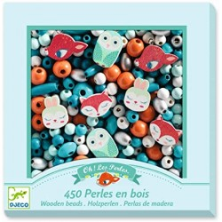 "450 perles en bois ""petits animaux"" Djeco"