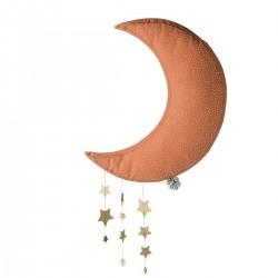 Lune vieux rose avec étoiles