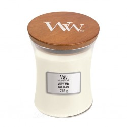 Bougie Woodwick Teck blanc (medium)