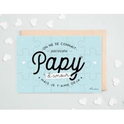 "Aankondiging Puzzel ""Papy"""