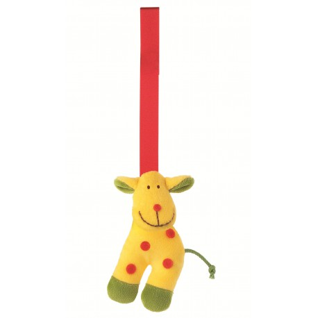 "Pendentif textile ""girafe"""