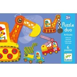 "Puzzle duo ""Articulo véhicules"" (6 puzzles)"