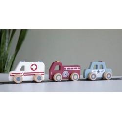 Lot de 3 voitures d'urgence Little Dutch