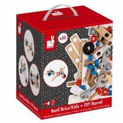 Janod Brico'Kids DIY Barrel (50 stuks)