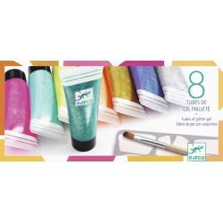 8 tubes de gel pailleté Djeco