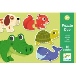Djeco puzzel duo Dieren (10 puzzels)