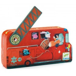 Puzzle Camion de pompier Djeco (16 pcs)