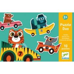 Djeco puzzel duo Voertuigen (10 puzzels)