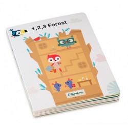 Livre Puzzle 1, 2, 3 Forêt Lilliputiens