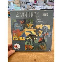 Boek magnetische puzzels dino (2 x 20 stuks)