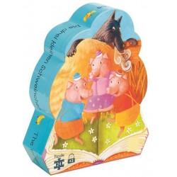 Puzzle Djeco 3 petits cochons (24 pcs)