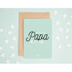"""Carte """"Pour mon papa d'amour"""""""
