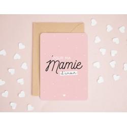 """Carte """"Pour ma mamie d'amour"""""""