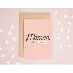 """Carte """"Pour ma maman d'amour"""""""