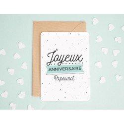 """Carte """"Joyeux anniversaire papounet"""""""