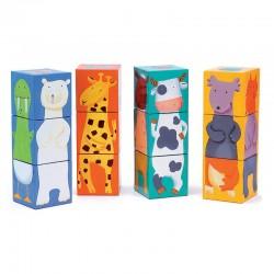 12 kubussen dieren kleuren Djeco