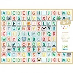 Gommettes volume Alphabet Djeco