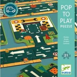 Puzzel pop to play Straten Djeco (21 stuks)