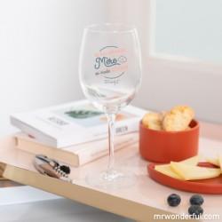 """Wijnglas """"Maman en mode détente..."""""""