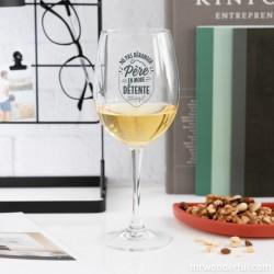 """Wijnglas """"Père en mode détente..."""""""