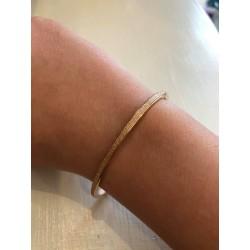 Armband met pailletten roze goud
