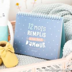 Album photo bébé - 12 mois remplis d'amour