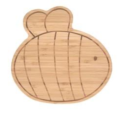 Planche petit déjeuner en bois Abeille