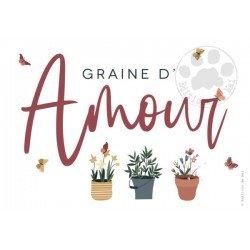 Carte à graines Amour Editions du mai
