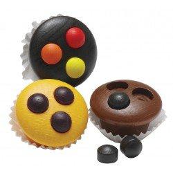 3 muffins en bois