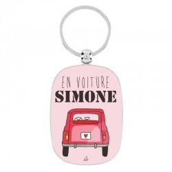 """Porte-clef """"en voiture simone"""""""