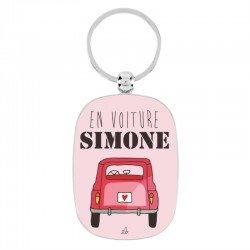 """Sleutelhanger """"en voiture Simone"""""""