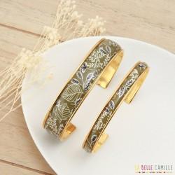 Bracelet jonc fin Kaki La Belle Camille