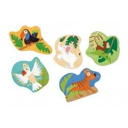 5 puzzles évolutifs Jungle