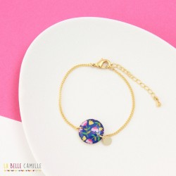 Bracelet Fleurs bleues La Belle Camille