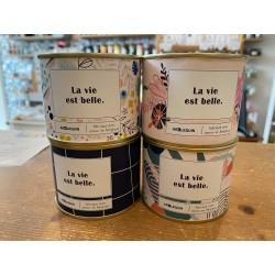 """Bougie conserve """"La vie est belle"""""""