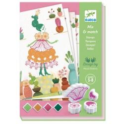 Tampons Mix & Match - Flower girls