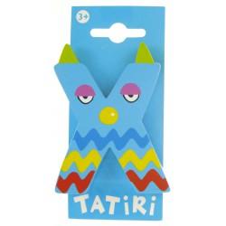 Lettre en bois Tatiri - X bleu