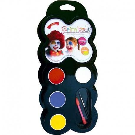 Kit palet met 4 kleuren Clown