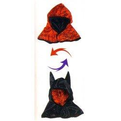 Cagoule réversible batman/spiderman