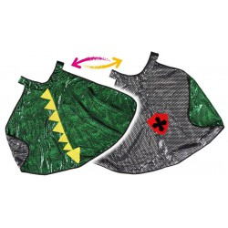 Cape réversible Chevalier-Dragon (3-6 ans)