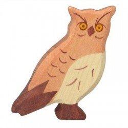 Houten Uil figuur