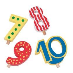 Cijfers van 7 tot 10 voor verjaardagstrein