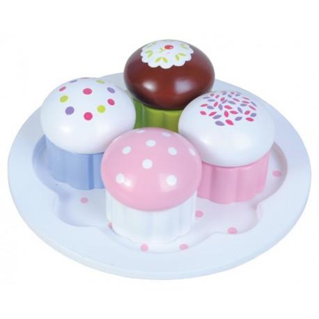 4 muffins en bois