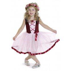 Top rose avec paillettes (4-6 ans)