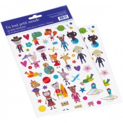 Stickers Un tout petit monde Mini Labo