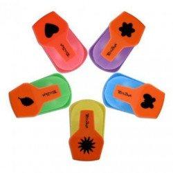 5 kleine perforators met originele vormen