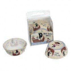 Cupcake papiertjes Piraat