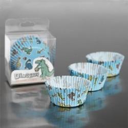 Caissettes à cupcakes Dinosaure