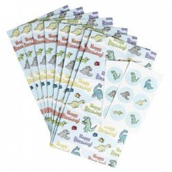 8 Pochettes Cadeau Dinosaure + stickers